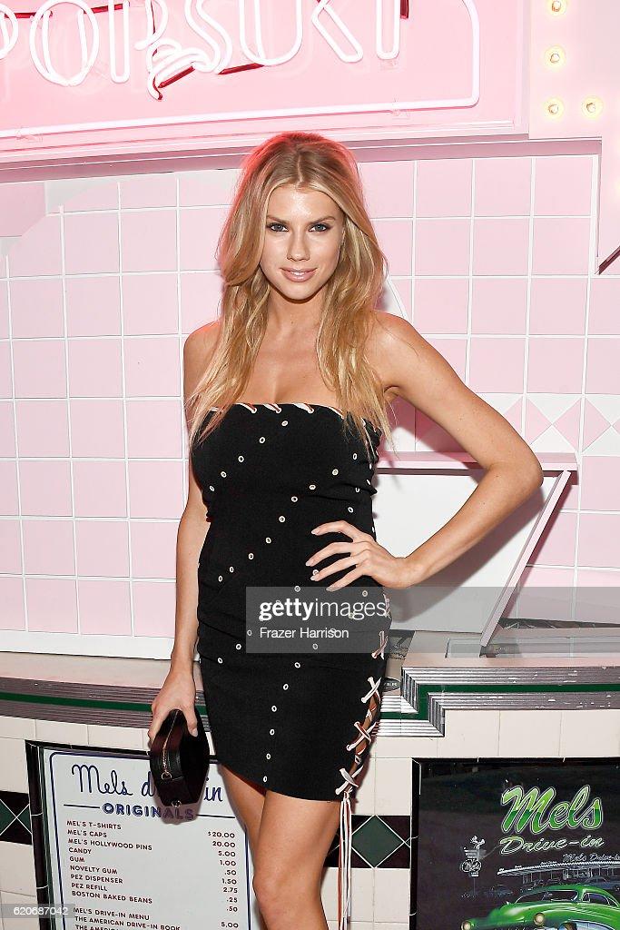 Model Charlotte McKinney attends Poppy Jamie, Suki Waterhouse, Leo Seigal and Cade Hudson celebration of the launch of POP & SUKI on November 2, 2016 in Los Angeles, California.