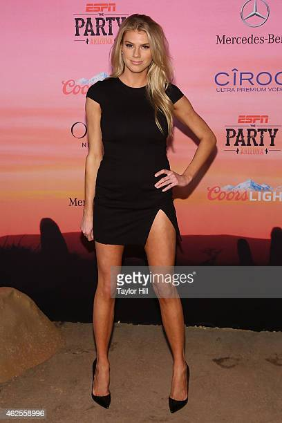 Model Charlotte McKinney attends the 2015 ESPN The Party at Westworld on January 30 2015 in Scottsdale Arizona