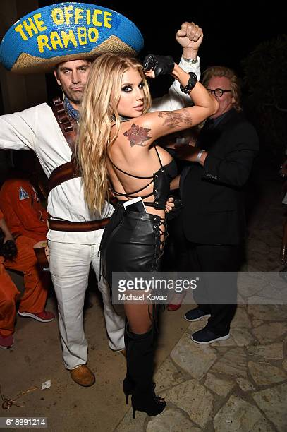 Model Charlotte McKinney attends the Casamigos Halloween Party at a private residence on October 28 2016 in Beverly Hills California