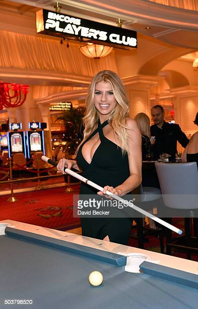 Model Charlotte McKinney attends the Encore Player's Club grand opening celebration at Wynn Las Vegas on January 6 2016 in Las Vegas Nevada