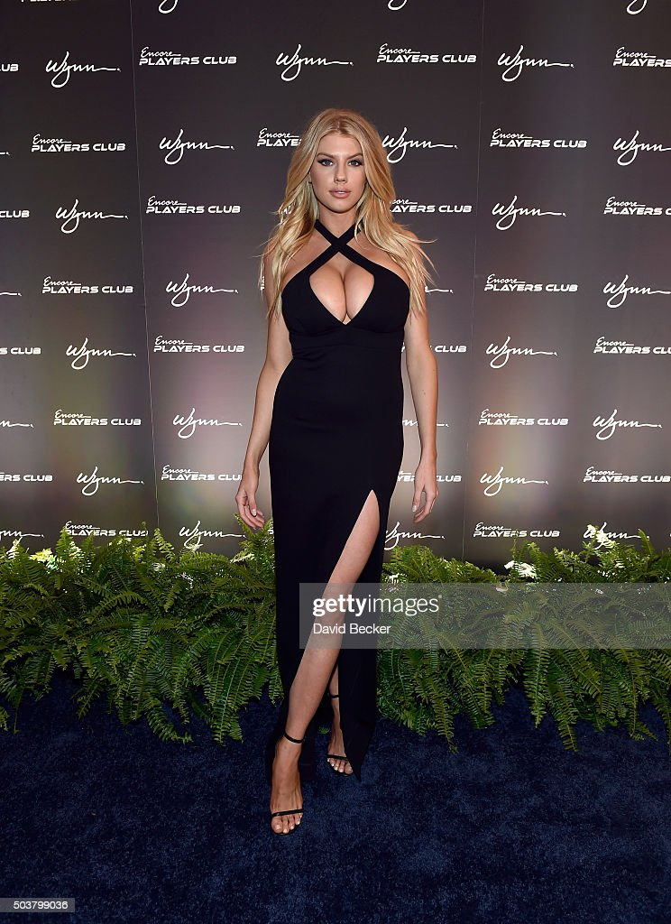 Charlotte McKinney Attends Encore Players Club Grand Opening At Wynn Las Vegas