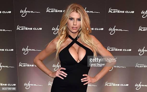 Model Charlotte McKinney attends the Encore Player's Club grand opening celebration at Wynn Las Vegas on January 6 2016 in Las Vegas Nevada