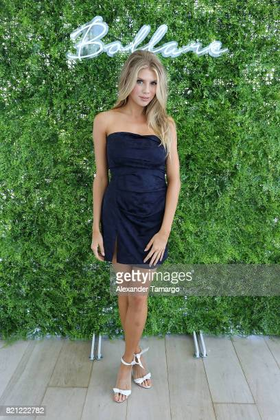 Model Charlotte McKinney attends Tori Praver Swimwear Hosts Miami Swim Brunch At Bollare Hub The 1 Hotel at Penthouse at 1 Hotel South Beach on July...
