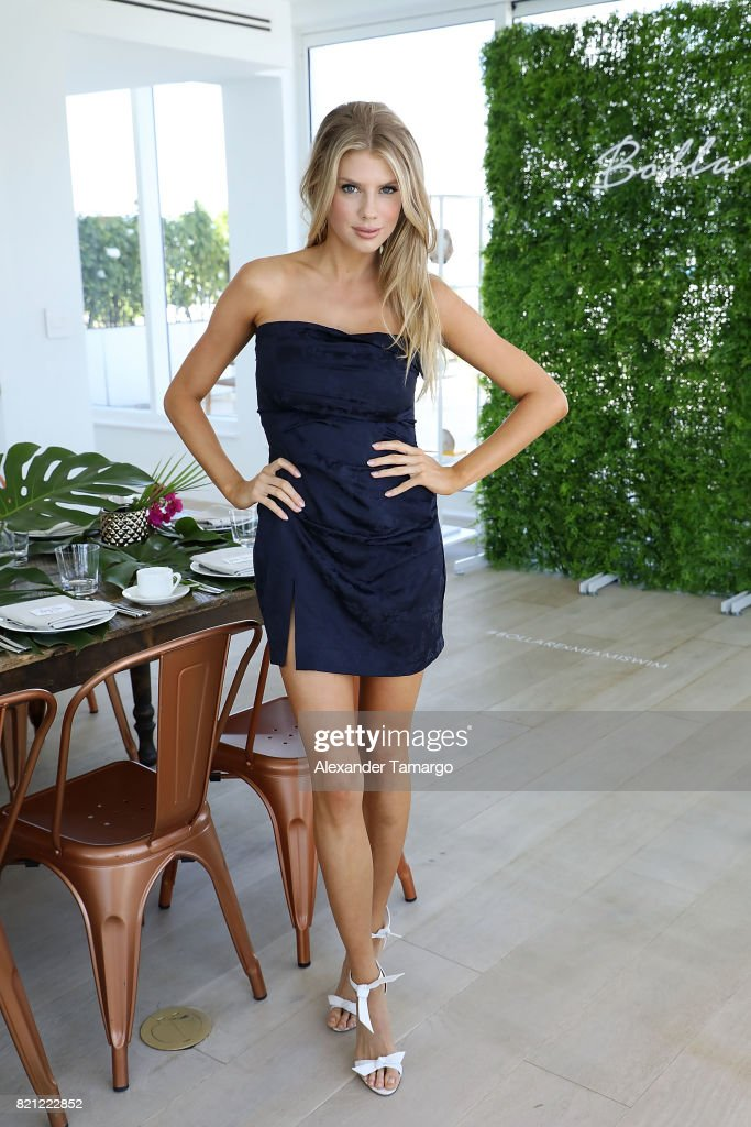 Model Charlotte McKinney attends Tori Praver Swimwear Hosts Miami Swim Brunch At Bollare Hub, The 1 Hotel at Penthouse at 1 Hotel South Beach on July 23, 2017 in Miami Beach, Florida.