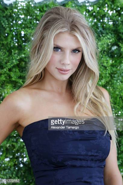 Model Charlotte McKinney attends Tori Praver Swimwear Hosts Miami Swim Brunch At Bollare Hub The 1 Hotel at Penthouse at 1 Hotel South Beach on July...