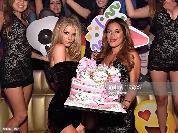 Model Charlotte McKinney celebrates her birthday at Intrigue Nightclub at Wynn Las Vegas on August 6 2016 in Las Vegas Nevada