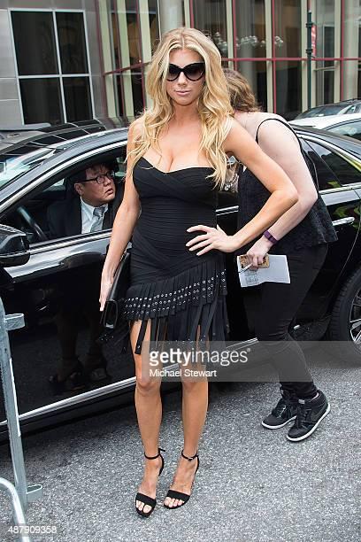 Model Charlotte McKinney seen in the Garment District on September 12, 2015 in New York City.