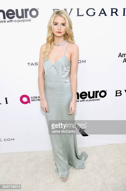 Model Charlotte Moss attends the 25th Annual Elton John AIDS Foundation's Academy Awards Viewing Party at The City of West Hollywood Park on February...