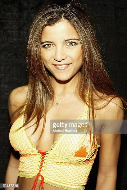 Model Chay Santini attends Anna Benson's birthday bash and Lingerie Bowl Party at Shelter on February 4 2005 in Los Angeles California