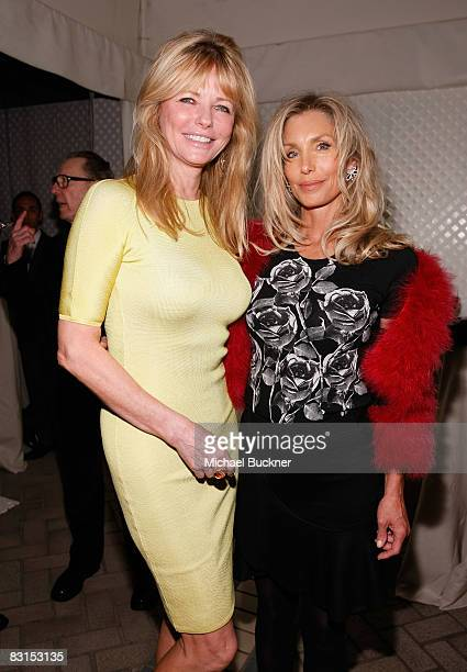 Model Cheryl Tiegs and actress Heather Thomas attend the 15th annual Women In Hollywood Tribute hosted by ELLE Magazine at the Four Seasons Hotel on...