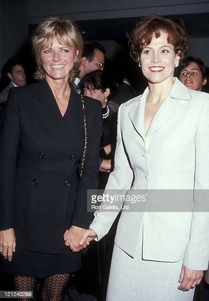 Model Cheryl Tiegs and actress Sigourney Weaver attend the Death and the Maiden New York City Premiere on December 5 1994 at Sony Theatres Lincoln...