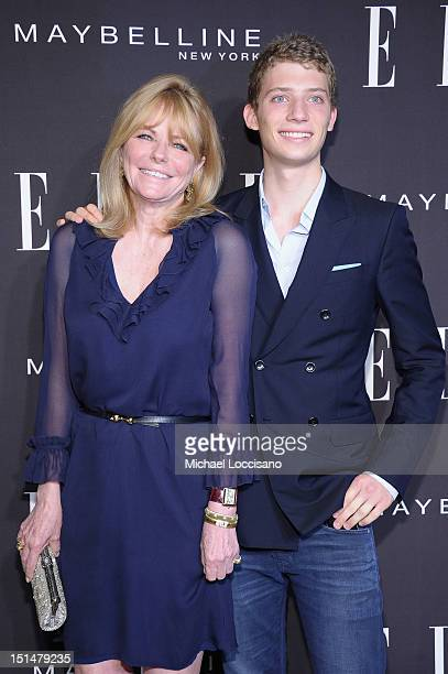 Model Cheryl Tiegs and son Zack Peck arrive at the Elle Fashion | Next Runway Show during the Spring 2013 MercedesBenz Fashion Week at David H Koch...