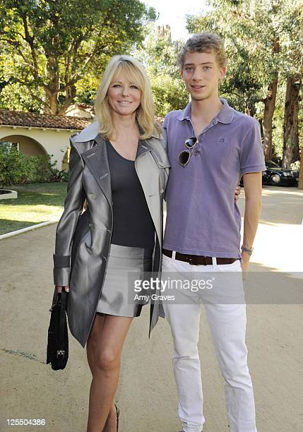 Model Cheryl Tiegs and son Zack Peck attend the Roberto de Villacis 2011 Collection private viewing party on November 14 2010 in Los Angeles...