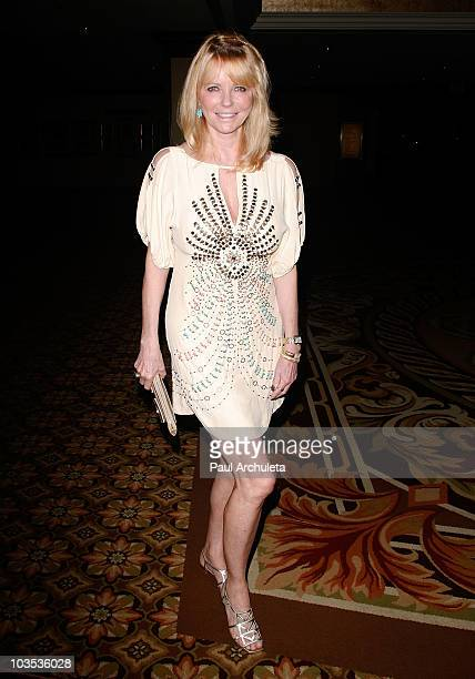 Model Cheryl Tiegs arrives at the Eagle Badge Foundation Gala on August 21 2010 in Century City California