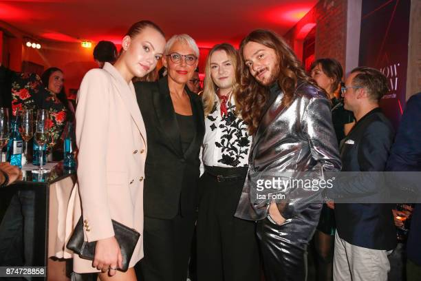 Model Cheyenne Ochsenknecht with her mother Natascha Ochsenknecht blogger Jack Strify and influencer Riccardo Simonetti attend the New Faces Award...