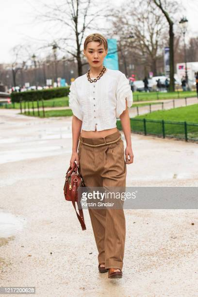 Model Chiaki Hataeyama wears Chloe on February 27 2020 in Paris France