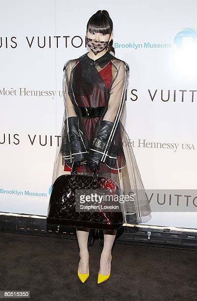 Model Chiho Aoshima attends the Louis Vuitton gala opening of the Murakami exhibition at The Brooklyn Museum on April 03 2008 in New York City