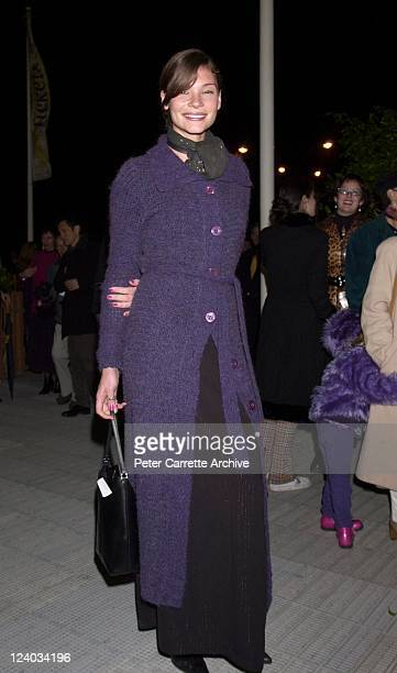 Model Chloe Maxwell arrives for the opening night of the Cirque du Soleil production of 'Alegria' under the Grand Chapiteau at Moore Park on May 29,...