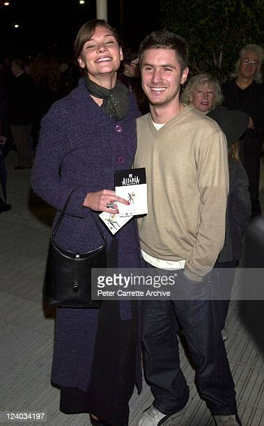 Model Chloe Maxwell arrives with a friend for the opening night of the Cirque du Soleil production of 'Alegria' under the Grand Chapiteau at Moore...