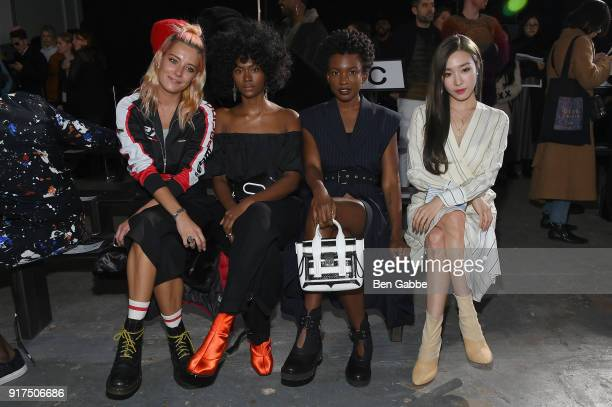 Model Chloe Norgaard and recording artists Isis Valentino and Alexe Belle of St Beauty and singer Tiffany Hwang attend the 31 Phillip Lim fashion...