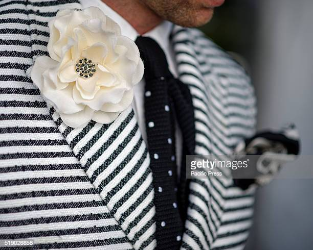 RANDWICK SYDNEY NSW AUSTRALIA Model Chris BurtAllen won the Best Dressed Mens Racewear for the Myer Fashions on the Field competition at Royal...