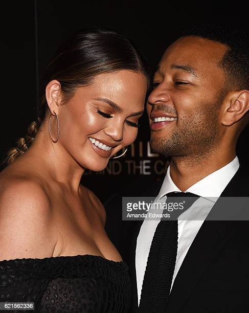 Model Chrissy Teigen and musician John Legend arrive at the 9th Hamilton Behind The Camera Awards at Exchange LA on November 6 2016 in Los Angeles...