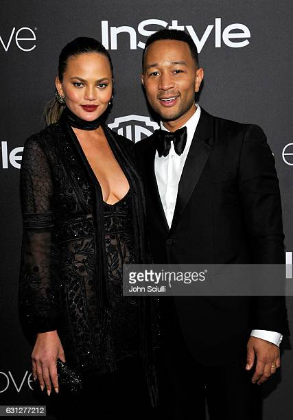Model Chrissy Teigen and singer John Legend attend The 2017 InStyle and Warner Bros 73rd Annual Golden Globe Awards PostParty at The Beverly Hilton...