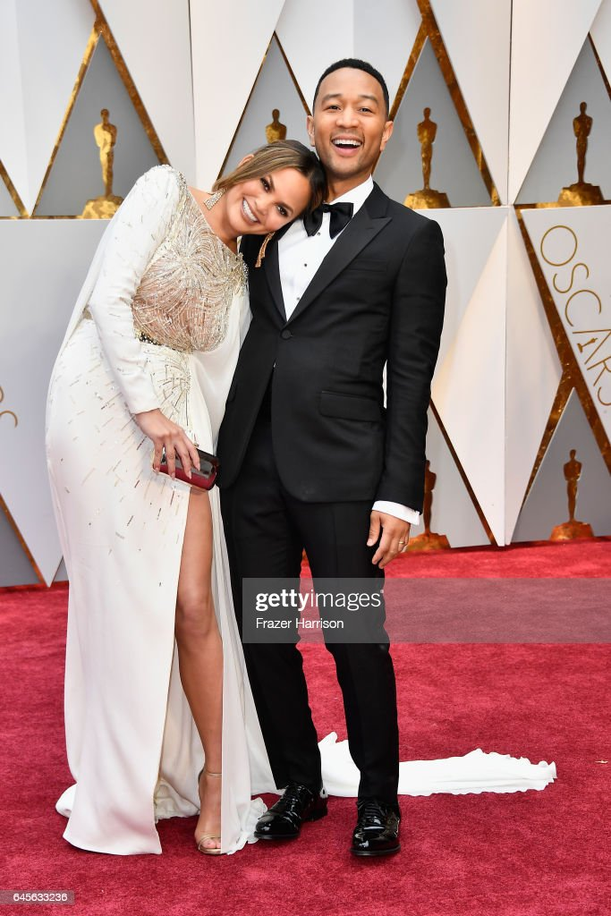 Model Chrissy Teigen (L) and singer John Legend attend the 89th Annual Academy Awards at Hollywood & Highland Center on February 26, 2017 in Hollywood, California.