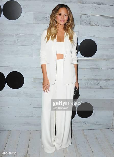 Model Chrissy Teigen arrives at go90 Sneak Peek at Wallis Annenberg Center for the Performing Arts on September 24 2015 in Beverly Hills California