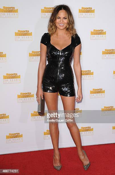 Model Chrissy Teigen arrives at NBC And Time Inc Celebrate 50th Anniversary Of Sports Illustrated Swimsuit Issue at Dolby Theatre on January 14 2014...