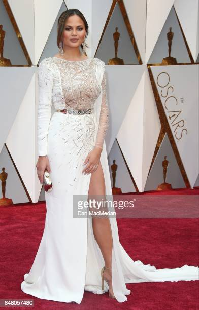 Model Chrissy Teigen arrives at the 89th Annual Academy Awards at Hollywood Highland Center on February 26 2017 in Hollywood California