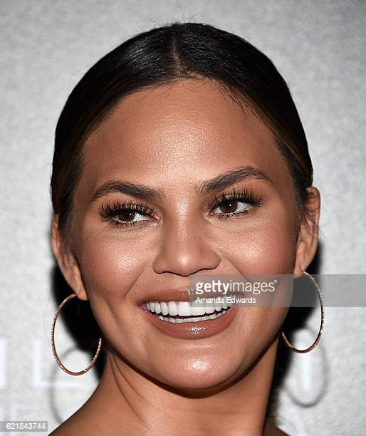 Model Chrissy Teigen arrives at the 9th Hamilton Behind The Camera Awards at Exchange LA on November 6 2016 in Los Angeles California