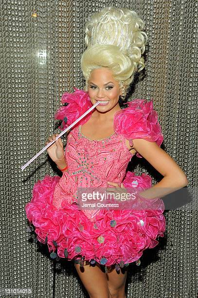 Model Chrissy Teigen attends Heidi Klum's 12th annual Halloween party at the PHD Rooftop Lounge at Dream Downtown on October 31 2011 in New York City