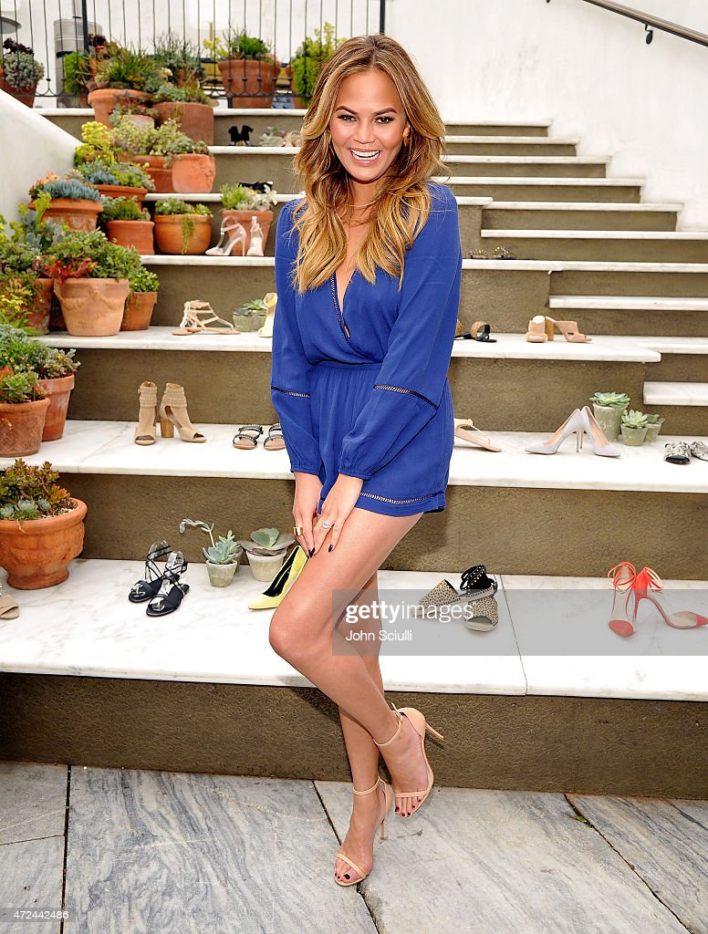 RAYE Shoe Launch Event Hosted By Chrissy Teigen And Hillary Kerr Held At Ysabel