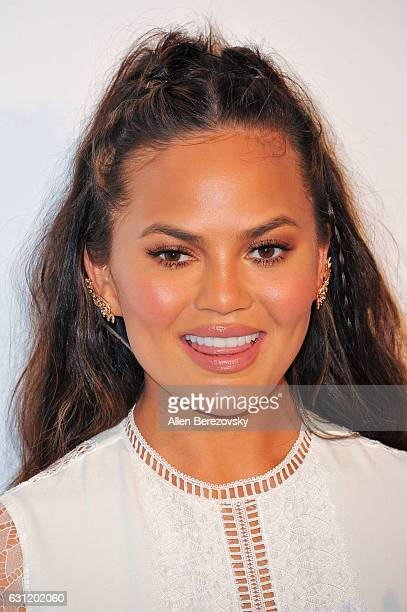 Model Chrissy Teigen attends Stevie Wonder's HEAVEN 10th Anniversary celebration presented by The Art of Elysium at Red Studios on January 7 2017 in...