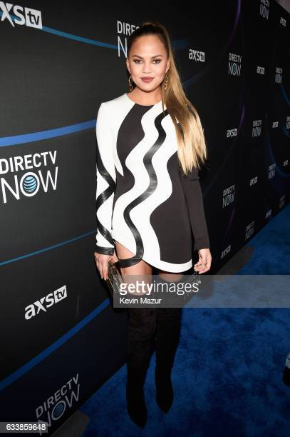 Model Chrissy Teigen attends the 2017 DIRECTV NOW Super Saturday Night Concert at Club Nomadic on February 4 2017 in Houston Texas