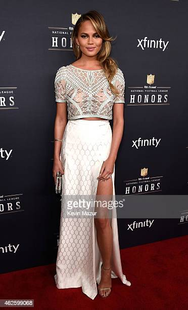 Model Chrissy Teigen attends the 4th Annual NFL Honors at Phoenix Convention Center on January 31 2015 in Phoenix Arizona