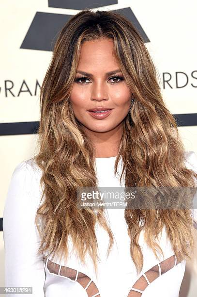 Model Chrissy Teigen attends The 57th Annual GRAMMY Awards at the STAPLES Center on February 8 2015 in Los Angeles California