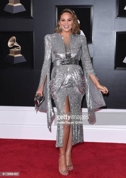 Model Chrissy Teigen attends the 60th Annual GRAMMY Awards at Madison Square Garden on January 28 2018 in New York City