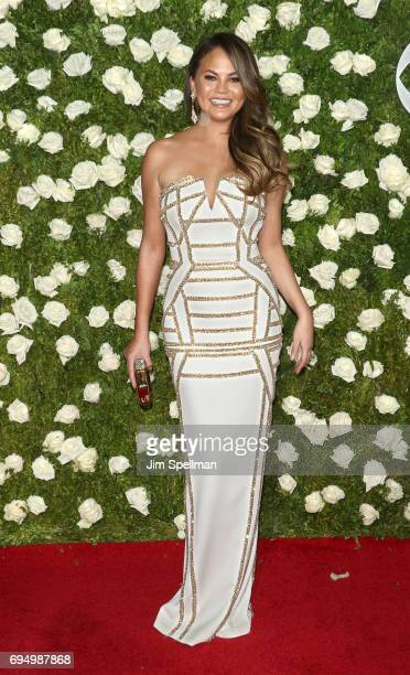Model Chrissy Teigen attends the 71st Annual Tony Awards at Radio City Music Hall on June 11 2017 in New York City