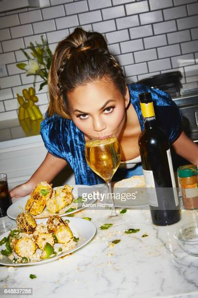 Model Chrissy Teigen is photographed for Entertainment Weekly Magazine on November 18 2016 in New York City PUBLISHED IMAGE