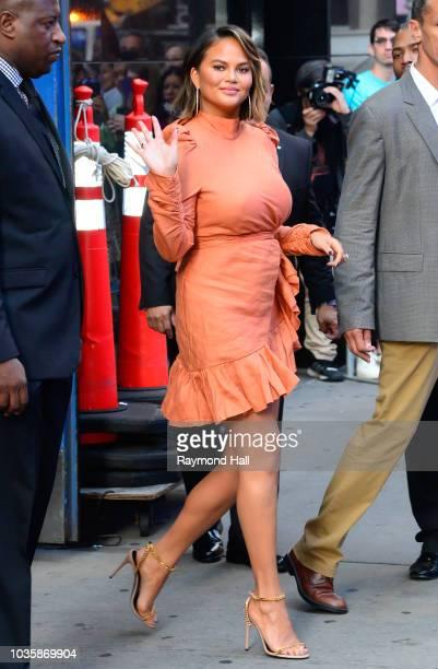 Model Chrissy Teigen is seen leaving 'Good Mroning America' on September 19 2018 in New York City