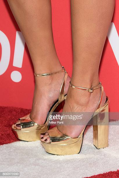 Model Chrissy Teigen shoe detail attends the Target Wonderland VIP Event Kick Off at Target Wonderland on December 7 2015 in New York City