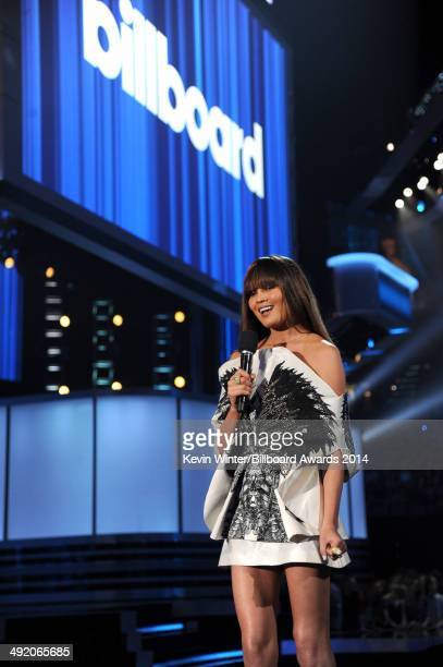 Model Chrissy Teigen speaks onstage during the 2014 Billboard Music Awards at the MGM Grand Garden Arena on May 18 2014 in Las Vegas Nevada