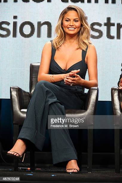 Model Chrissy Teigen speaks onstage during the 'The FAB Life' panel discussion at the ABC Entertainment portion of the 2015 Summer TCA Tour at The...