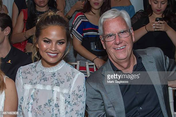 Model Chrissy Tiegen and Kohl's CEO Kevin Mansell attend the Lauren Conrad Spring 2016 New York Fashion Week at Skylight Modern on September 9 2015...
