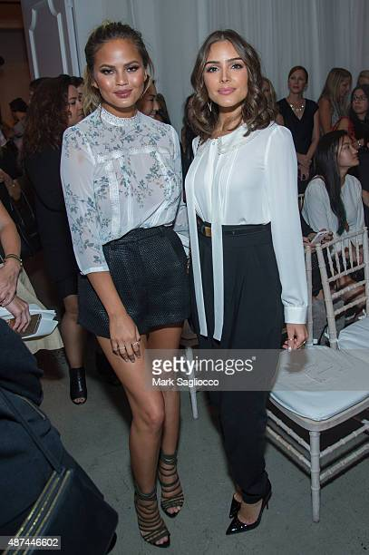 Model Chrissy Tiegen and Model/Actress Olivia Culpo attend the Lauren Conrad Spring 2016 during New York Fashion Week at Skylight Modern on September...