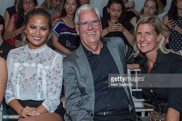 Model Chrissy Tiegen Kohl's CEO Kevin Mansell and Kohl's Senior VP Bevin Bailis attend the Lauren Conrad Spring 2016 New York Fashion Week at...