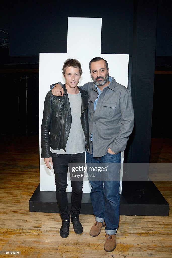 Model Christian Brylle (L) and Mazdack Rassi attend the Burberry Brit Rhythm Men's Launch in New York at Irving Plaza on October 17, 2013 in New York City.