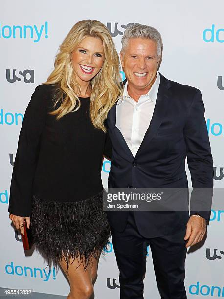 Model Christie Brinkley and advertising executive/TV personality Donny Deutsch attend the USA Network hosts the premiere of Donny at The Rainbow Room...
